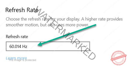 refresh rate to fix Black and white lines permanently stuck on screen