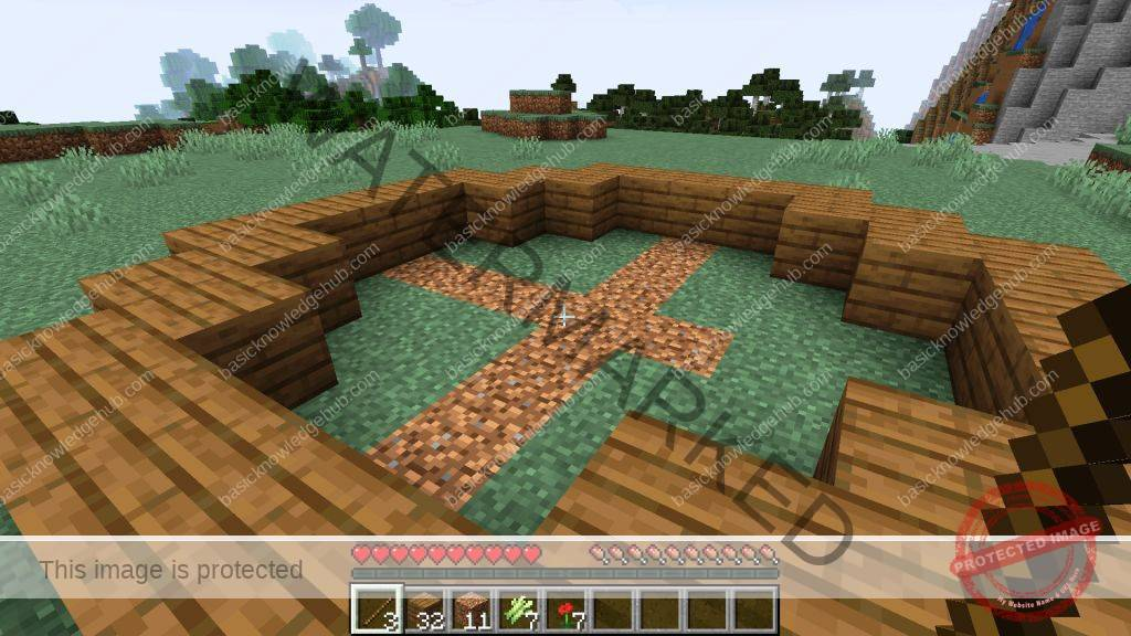 complete circle in Minecraft