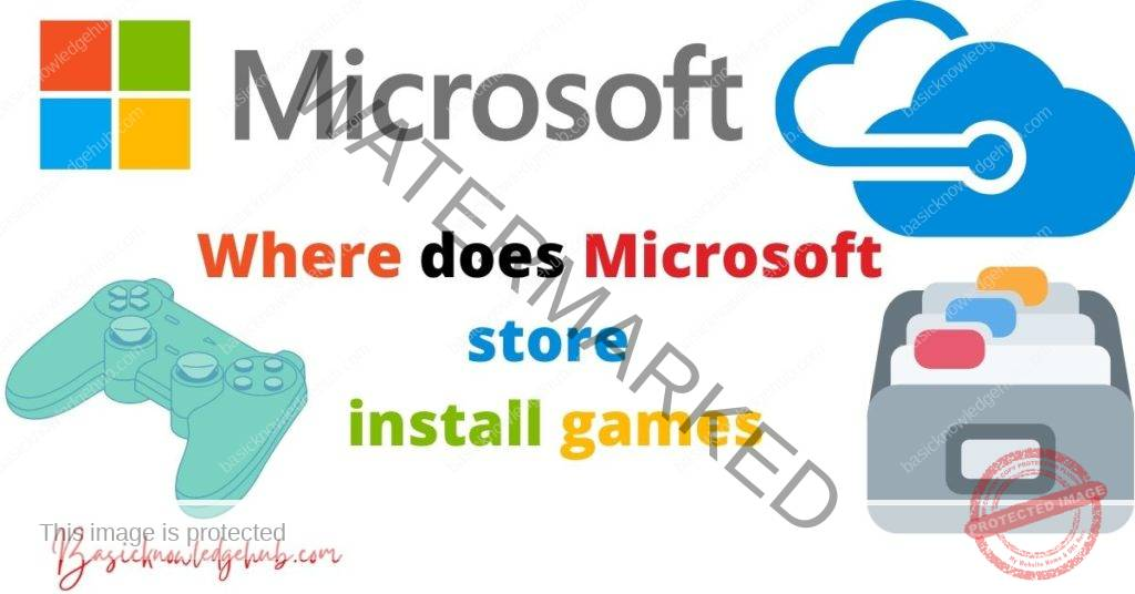 Where does Microsoft store install games