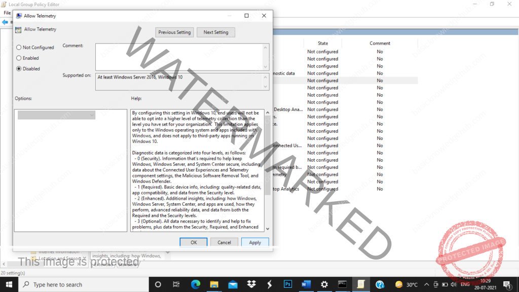disable Microsoft Compatibility Telemetry