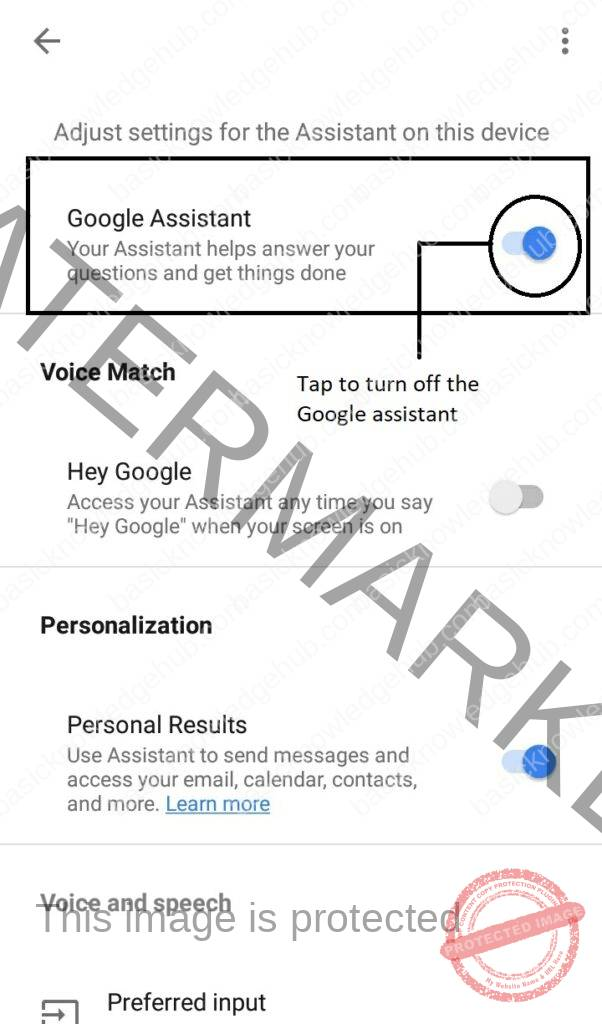 How to turn off the Google Assistant