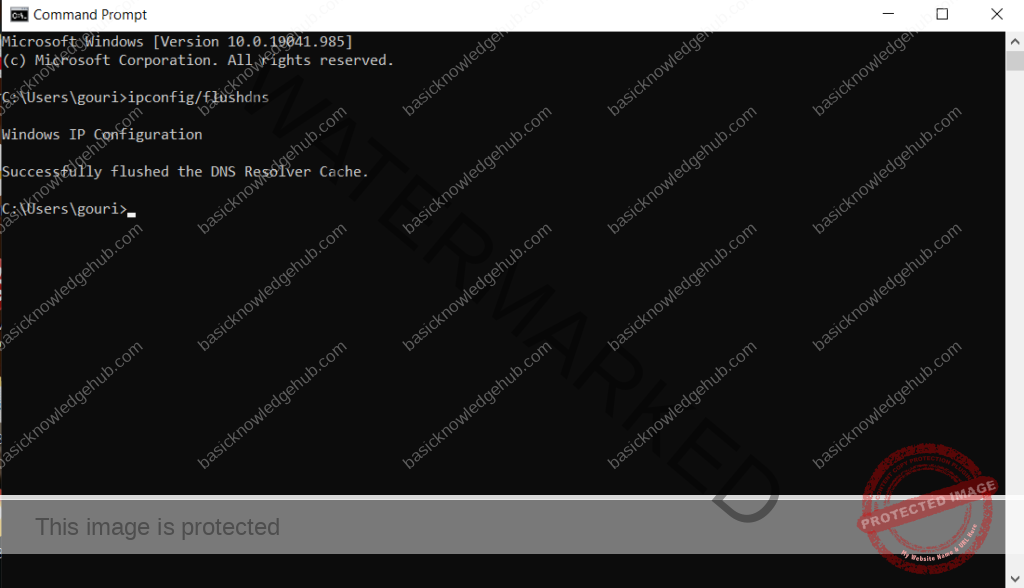 flushdns to fix DNS_PROBE_FINISHED_NXDOMAIN