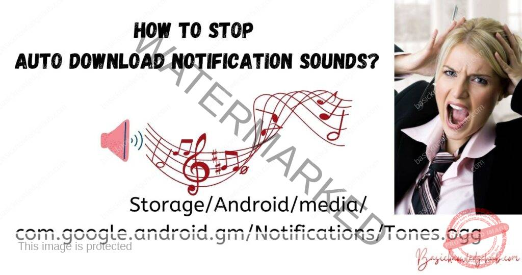 How to stop auto download notification sounds