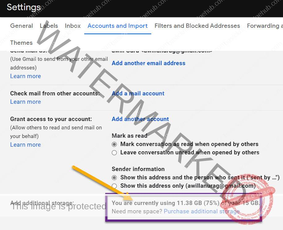 How to check your Gmail storage space?