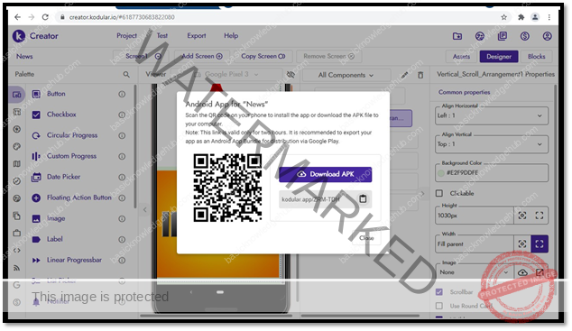 create an Android App without coding and download it